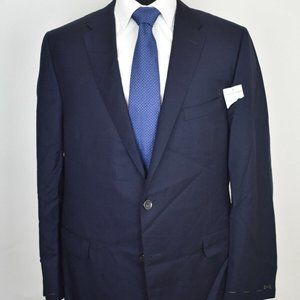 NEW 46L Hickey Freeman CURRENT Bespoke Navy COAT